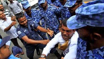President Nasheed Dragged Away